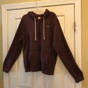 Hollister hooded, zip up sweatshirt.